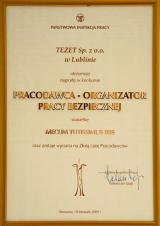 Nagroda - dyplom